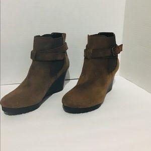 Lauren Ralph women's wedges boots brown size 8 NWO